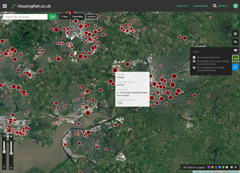 Data Layers: Brownfield & Local Plan Data