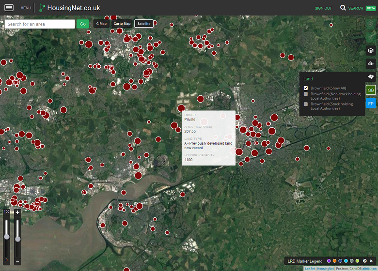 Open Data Layers: Green Belt and Brownfield